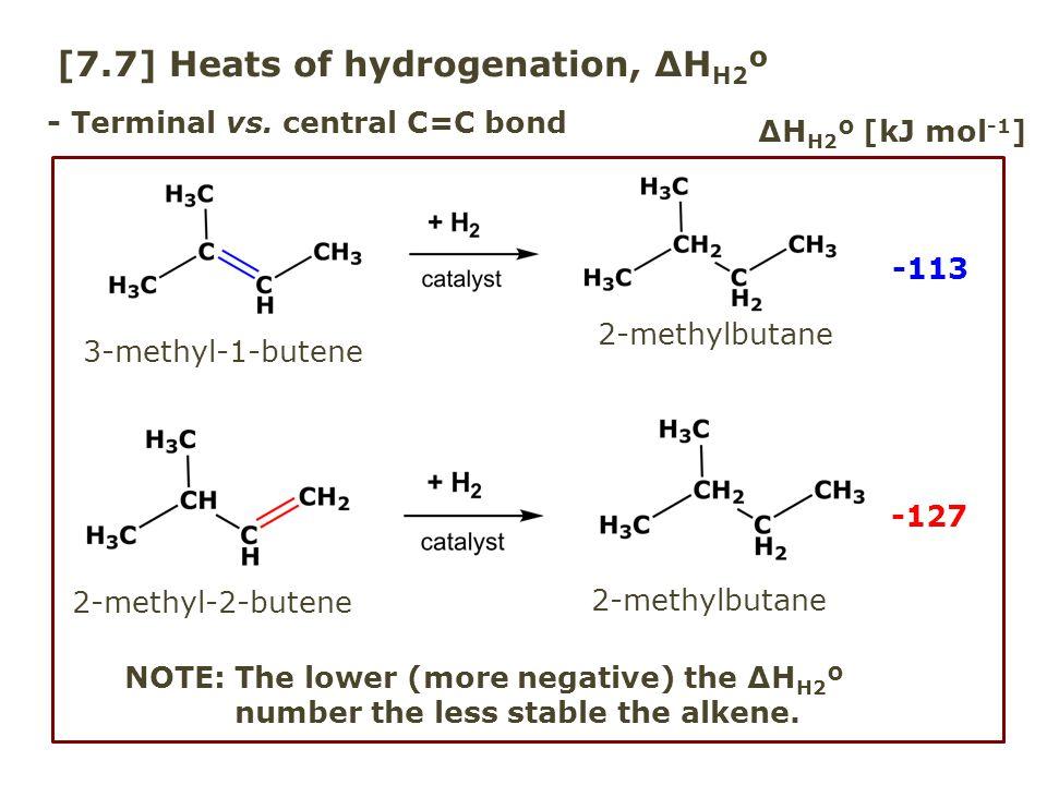 [7.7] Heats of hydrogenation, ΔHH2º